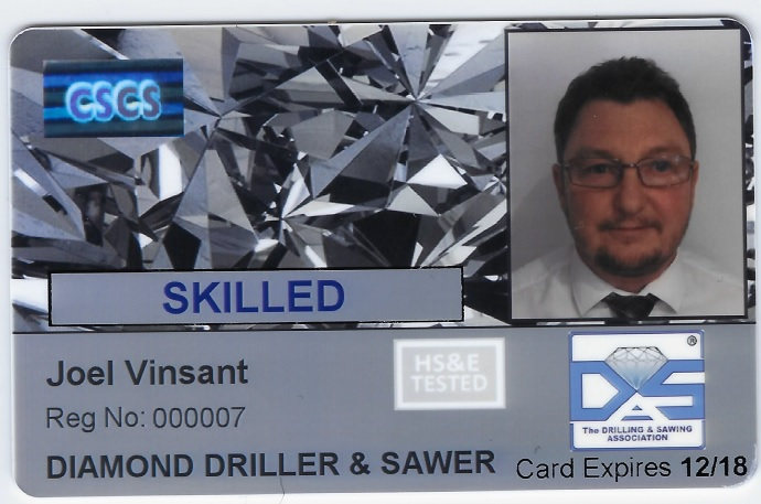 CSCS CARD APPLICATION - Drilling & Sawing Association